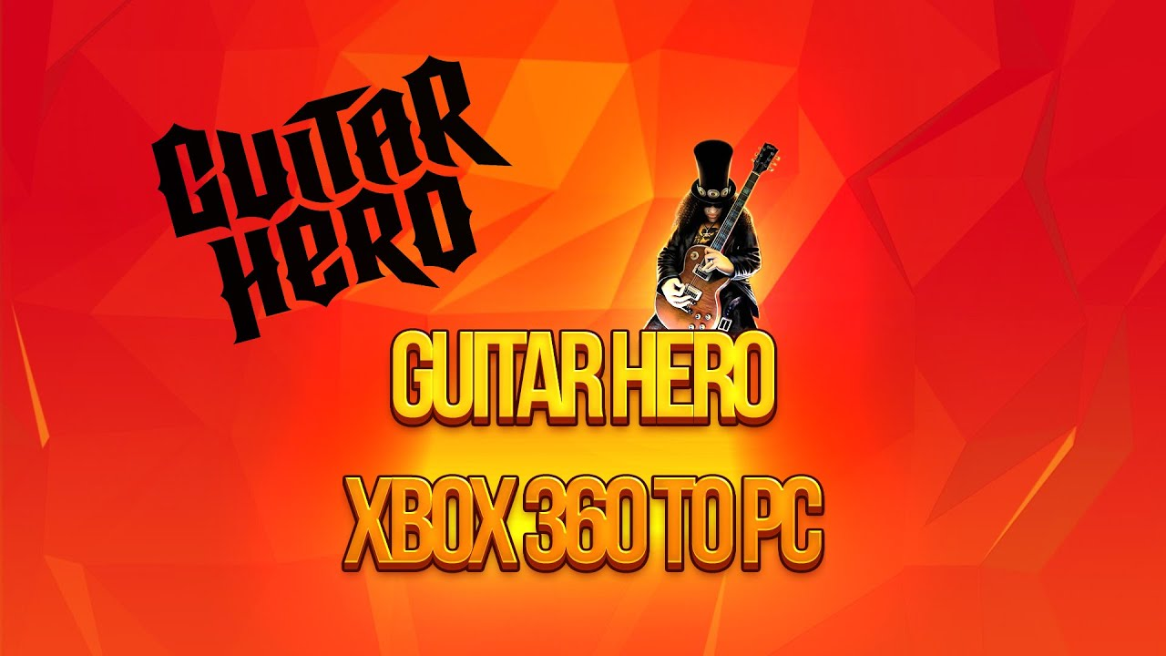 how to connect xbox 360 guitar hero to pc youtube