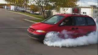 Turbo Dodge Caravan Burnout || CCG