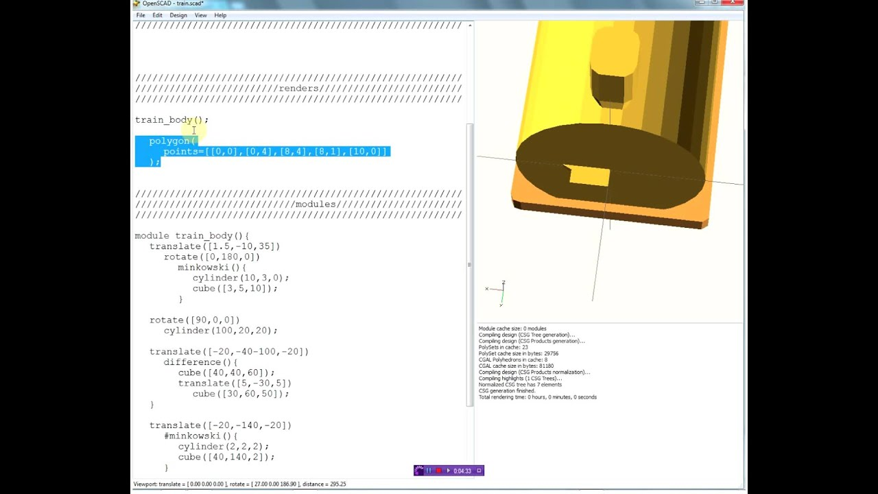 Polygon and Polyhedron in OpenSCAD (Part 1)