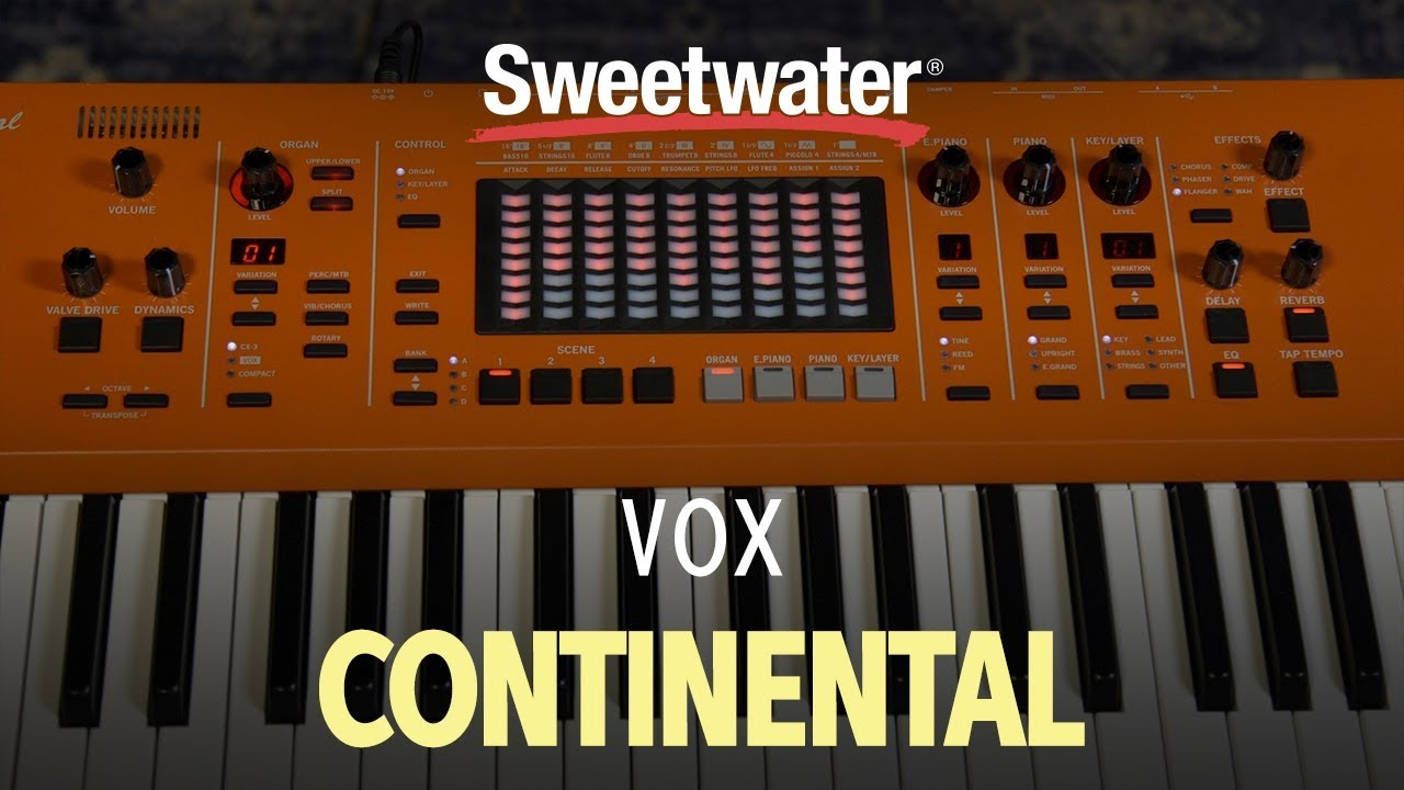 Vox Continental 61-key Performance Keyboard with Stand