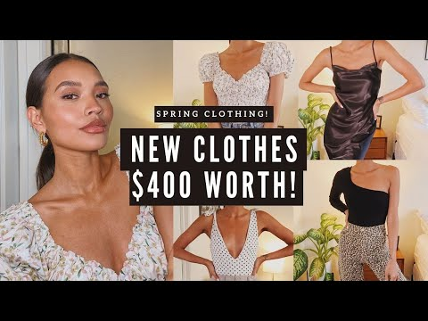 NEW SPRING FASHION TRY-ON HAUL! POPULAR INFLUENCER STORES   NICOLE ELISE