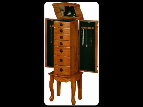 Coaster Traditional Jewelry Armoire Youtube
