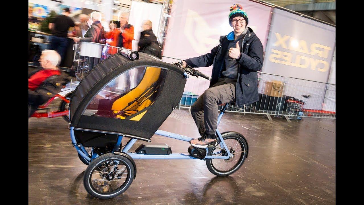 lastenr der und sportliche e bikes auf der fahrrad essen