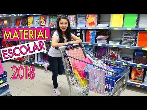 COMPRANDO MEU MATERIAL ESCOLAR 2018 | Luluca