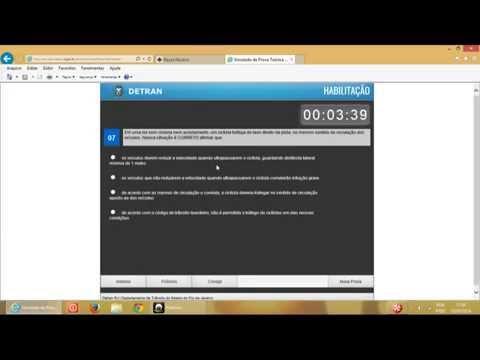 Vídeo Aula - Simulado Detran RJ - Prova Teórica