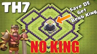 Clash Of Clans - TH7 (Town Hall 7) Dark Elixir Farming & Saving Base without Barbarian King 2016