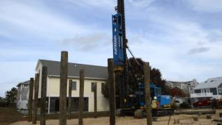 Repeat youtube video NRR in Bethany Beach Delaware with Junttan PM 16 driving pilings for new home