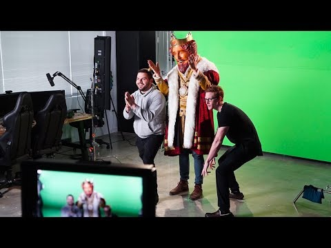 BEHIND THE SCENES OF COURAGE AND SCUMPS COMMERCIAL!