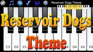 Reservoir Dogs Theme - How to play on Piano