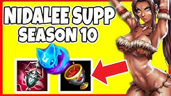 Nidalee Support Season 10! INSANE HEAL and ATTACK SPEED BUFF!! - League of Legends