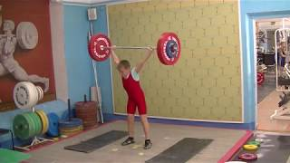 Бармин Иван, 9 лет, собст  вес 38 15 Рывок 19 кг