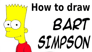How to draw Bart Simpson using letters