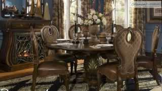 The Sovereign Round Dining Room Collection From Aico Furniture