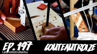 construction d'un manche bi-bois pour mon couteau en XC75 - Ep 197 - CouteauTroize