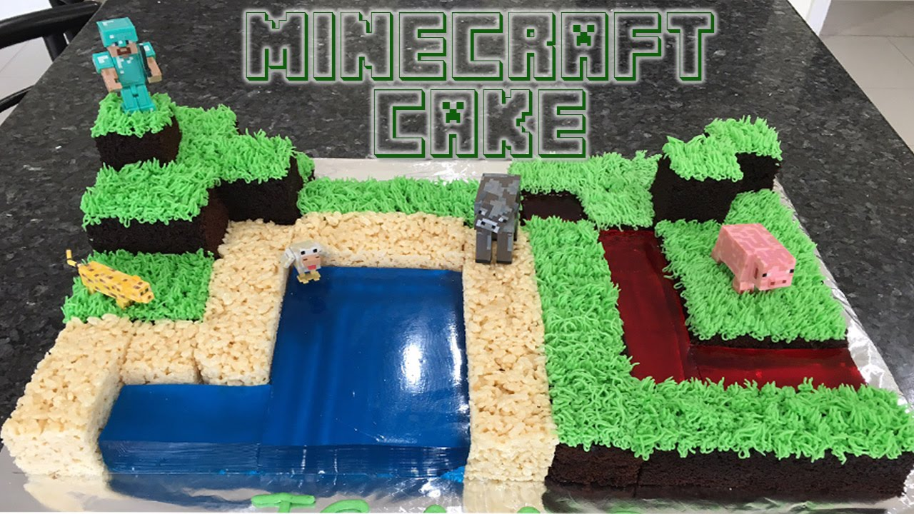 Minecraft Birthday Cake - YouTube
