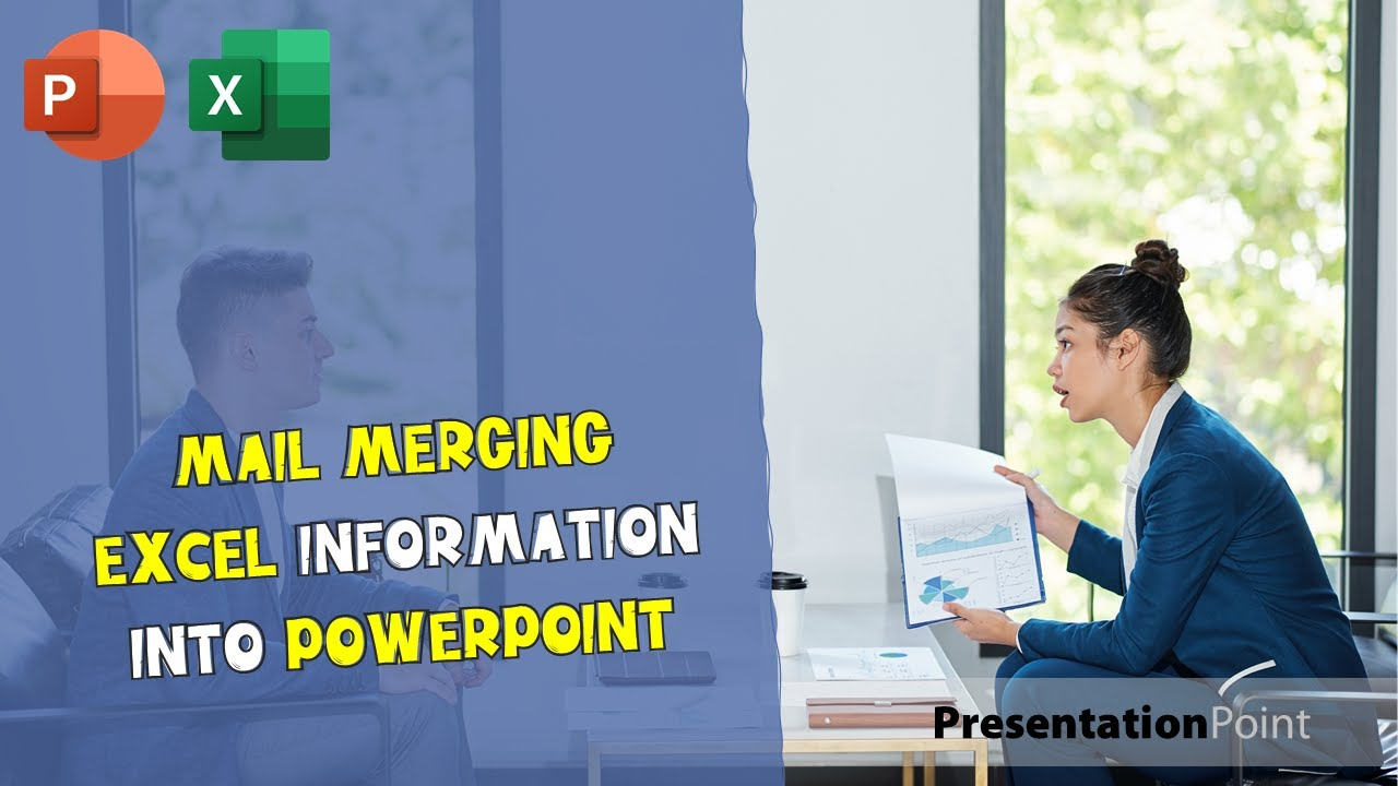 Mail Merging Excel Information Into Powerpoint Presentation Youtube