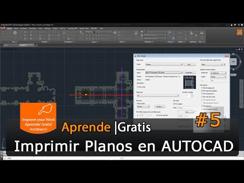 AutoCAD 2015 Tutorial Basico Starter 5 / Plot o Imprimir del Model HD