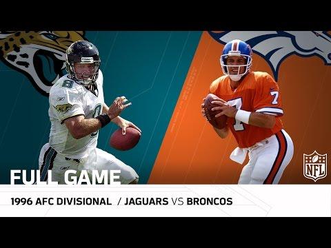Jaguars vs. Broncos - 1996 AFC Divisional Playoffs: Jaguars Upset John Elway | (FULL GAME) | NFL