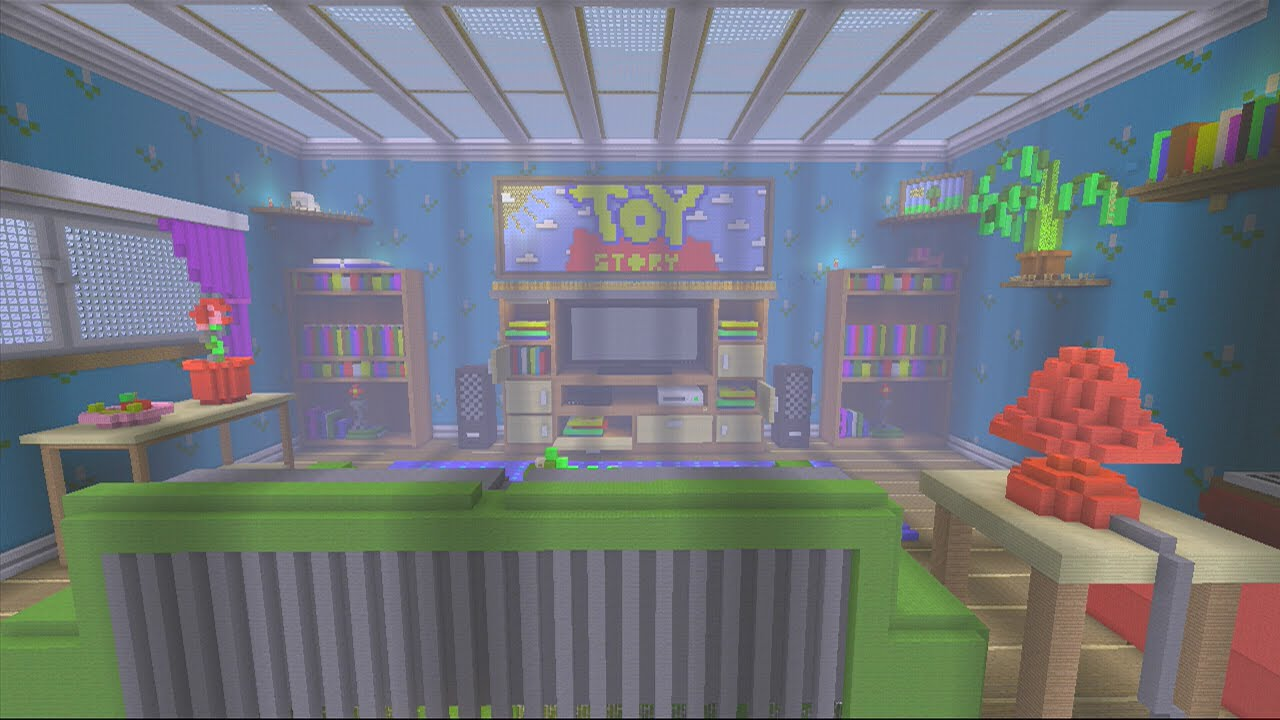 Minecraft Toy Story 3 Living Room Tour