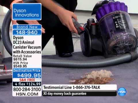 Dyson dc23 animal canister vacuum with accessories youtube for Dyson dc23 motor stopped working
