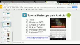 Tutorial Periscope para ANDROID COMPLETO