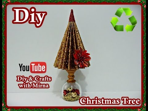 Diy. Christmas ornaments form paper toilet rolls. ( Christmas Tree ) Diy & Crafts with Mirna