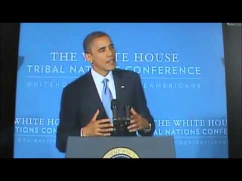Barack Obama praises the work of Thunder Valley CDC - YouTube