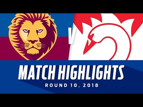 Match Highlights: Brisbane v Sydney | Round 10, 2018 | AFL