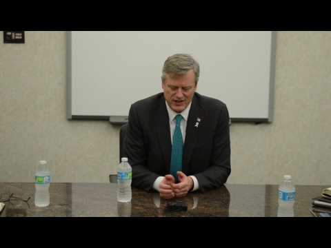 Massachusetts Governor Charlie Baker meets with editorial board of The Republican, talks marijuana