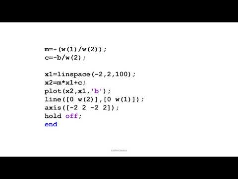 MATLAB Simulation of Perceptron Learning