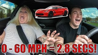 GRANDMOM REACTS TO CORVETTE Z06 LAUNCH!