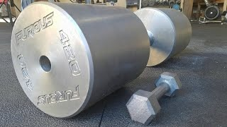 Making The Worlds HEAVIEST Dumbbell (420lbs)