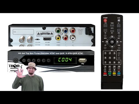 Digital TV Tuner Set Top Box - PVR - THOR QAM CATV RF and ATSC RF to HDMI Decoder  - How to set up
