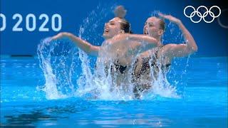 Синхронное плавание дуэт сборной ОКР абсолютные чемпионы после квалификации