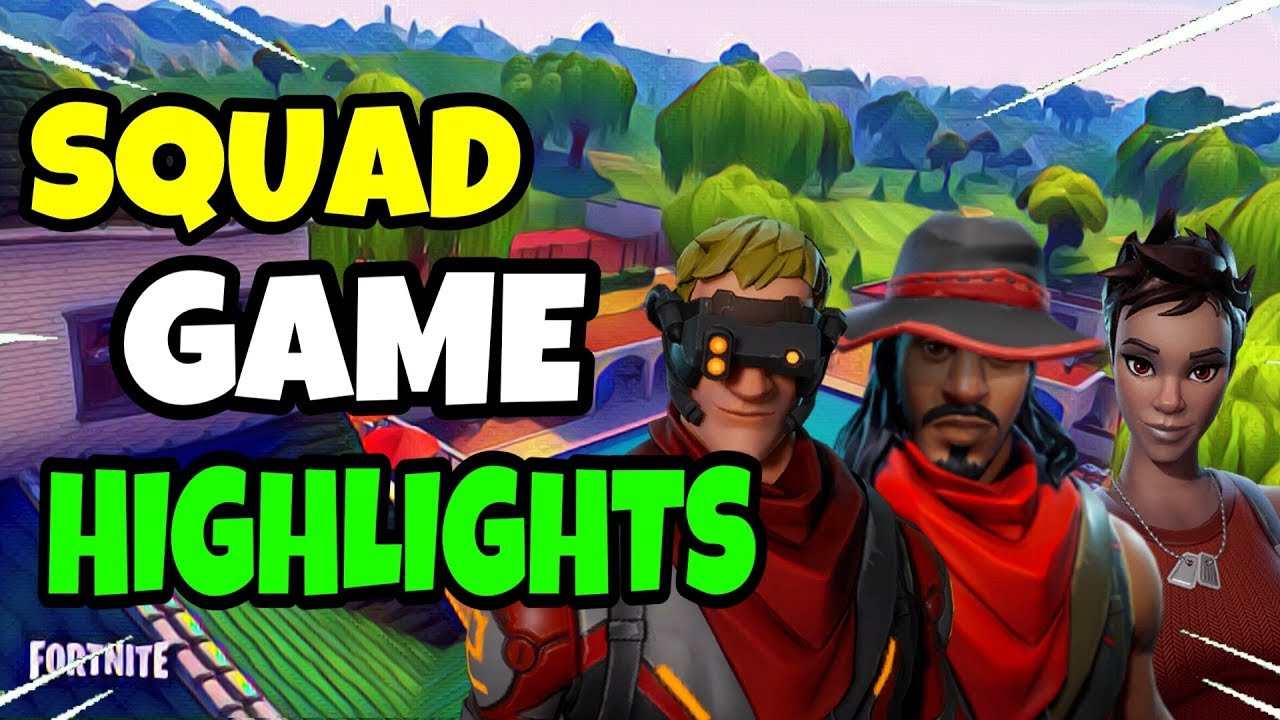 Squad Game Highlights || Console player (Fortnite Battle Royale)