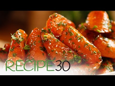 Download Youtube: Roasted Glazed Carrots- By RECIPE30.com