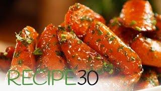 Roasted Glazed Carrots- By RECIPE30.com
