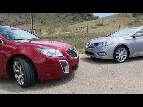 2012 Buick Regal GS vs Hyundai Azera Mile High Mashup Review