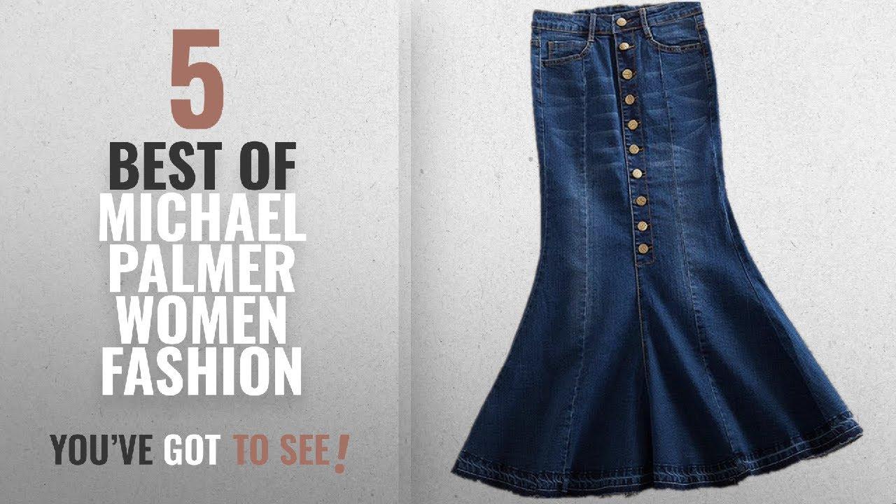 f7c165558c15a Michael Palmer Women Fashion  2018 Best Sellers   Michael Palmer Plus Size  7xl Women Denim Skirts