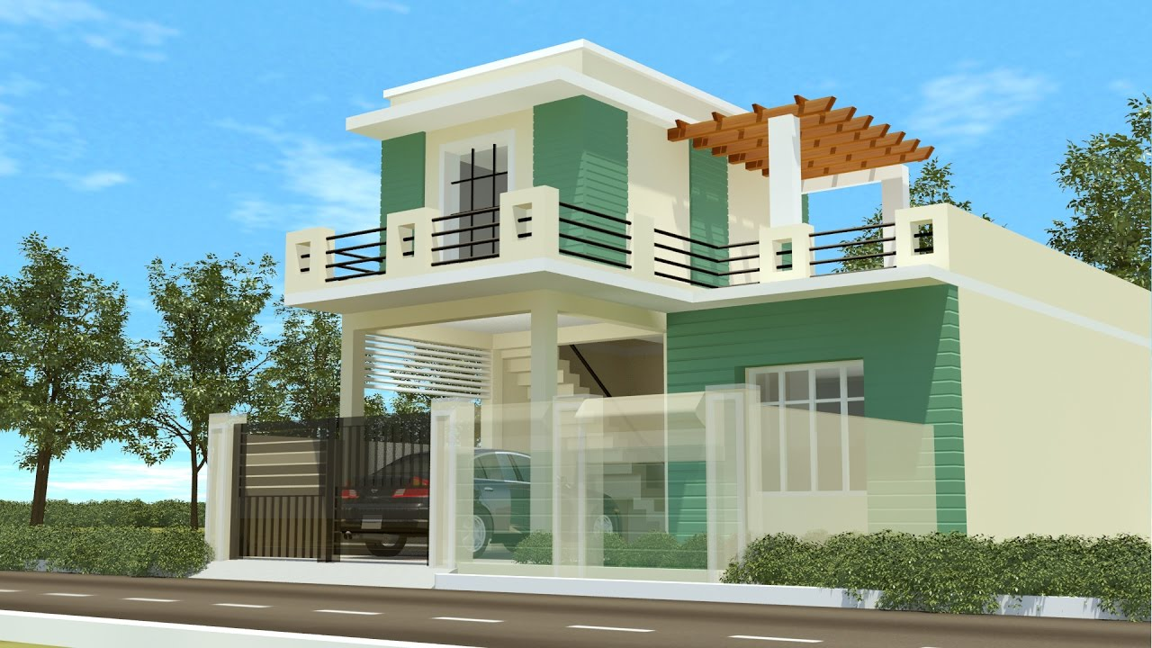 Duplex house designs best for 2017 youtube for Duplex house models