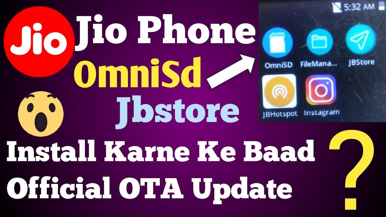 Jio Phone OmniSD JbStore Install Karne Par Jio Phone