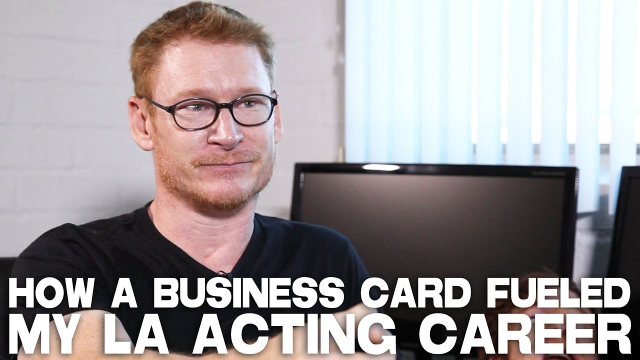 How a business card fueled an acting career by zack ward youtube how a business card fueled an acting career by zack ward colourmoves