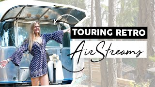 Vintage Airstream Tour!  Inside Super Unique And Luxury Trailers On A Remote Island!