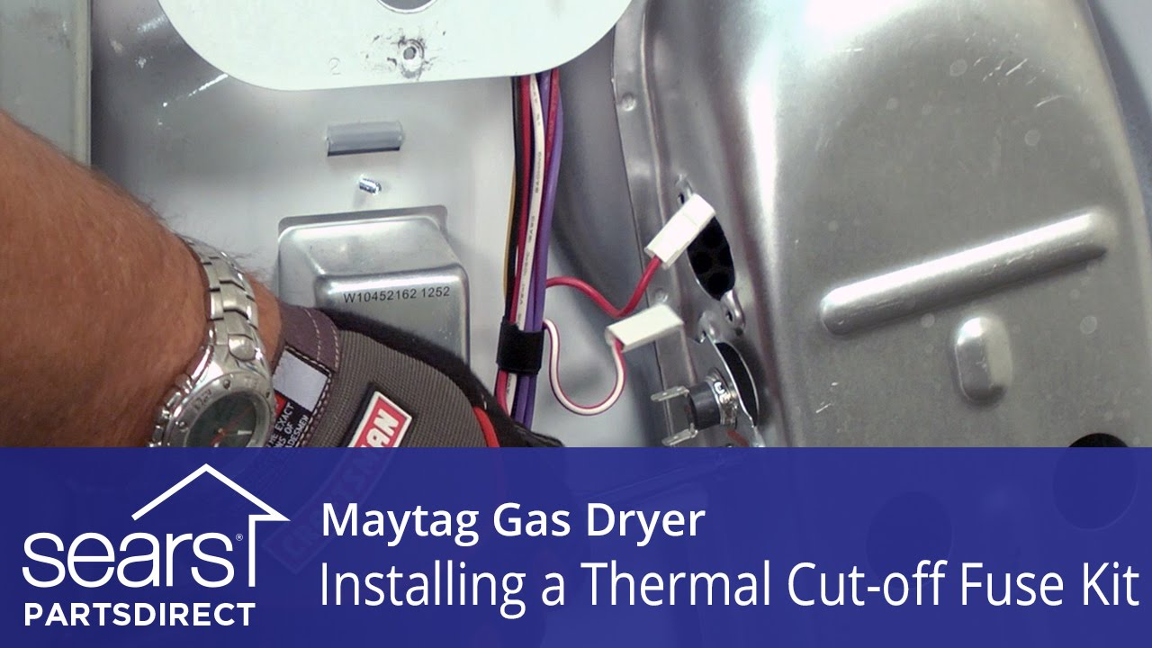 How To Replace A Maytag Gas Dryer Thermal Cut Off Fuse Kit Youtube Schematic Wiring Diagram For 120v
