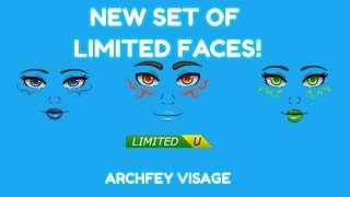 SET OF *LIMITED* ARCHFEY VISAGE FACES! ROBLOX PRESIDENTS DAY SALE 2019!