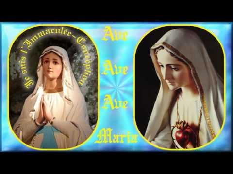 AM523. Ave Maria de Lourdes : Cantique de procession (chant & contre-chant alternés)