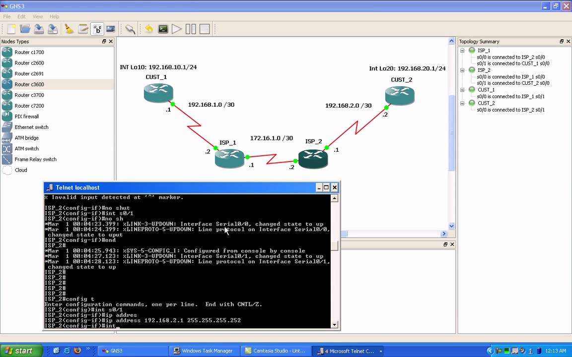 Gns3 Static Routing Lab 1 Part Of 7 Trailer Youtube Basic Frame Relay