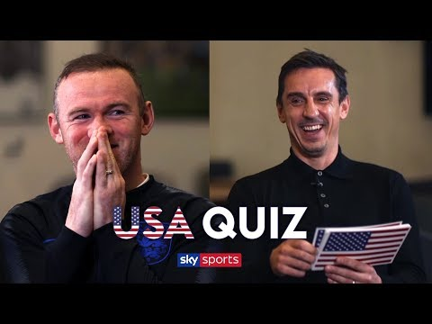 How much does Wayne Rooney know about USA?   Gary Neville's USA Quiz 🇺🇸