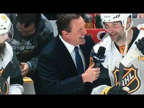 John Scott destroys Jeremy Roenick in NHL Allstar Interview