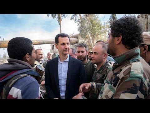 Beşar Esad Doğu Guta'yı ziyaret etti